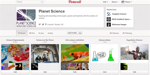 Planet Science Pinterest