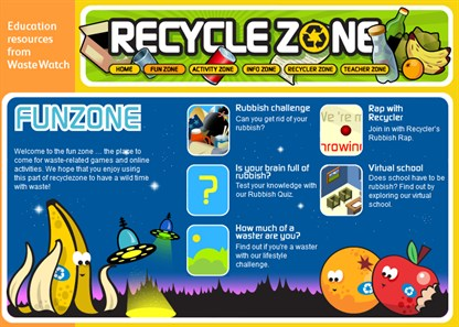 Recycle Zone games