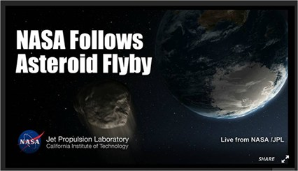 NASA Asteroid Flyby