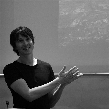 Professor Brian Cox talking about the Large Hadron Collider_photo by Dave Pearson
