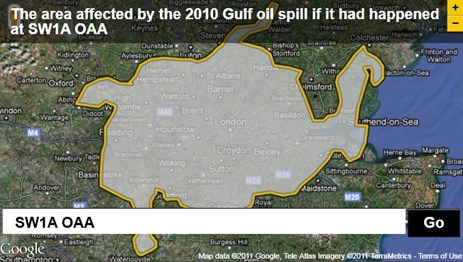 2010 Gulf Oil Spill over London