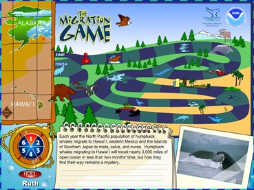 NOAA Whale Migration game