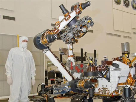 Mars Curiosity testing robotic arm