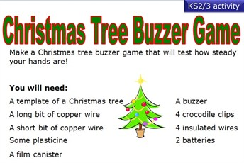 Christmas tree buzzer game