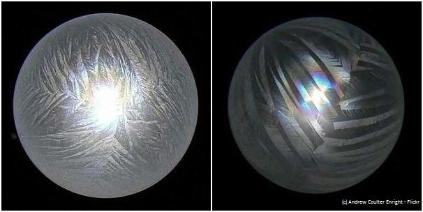 Can you freeze a bubble?