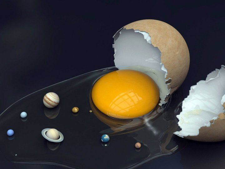 Giant egg replaces our sun