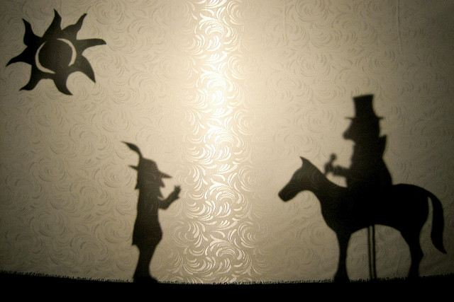 Make your own shadow puppets
