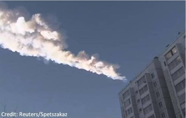 Meteor blazes trail across the morning sky